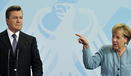 Меркель и Янукович