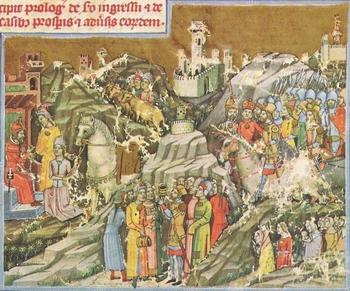 Переход мадьяр через Карпаты