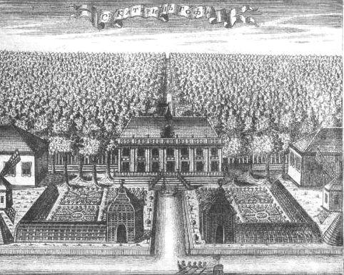 Екатерингофский дворец - старинная гравюра